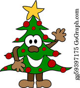 Christmas-Family - Cartoon Christmas Tree