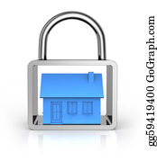 House-Alarm-Concept-Icon - Secure House Concept