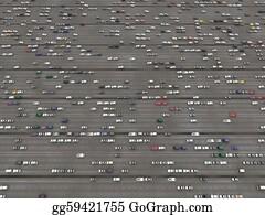 Car-Lot - Overhead Of A Parking Lot