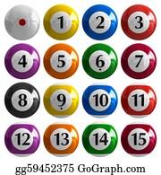 Pool-Party - Set Of Color American Billiard Balls