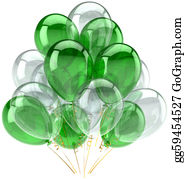 Retirement - Green White Party Balloons Classic