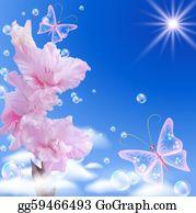 Gladioli - Gladiolus And Butterflies