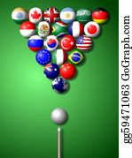 Globe-Flags - G20 Billiard