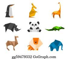 Blue-Elephant - Origami Figures