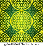 Plant-Life - Eps10 Flower Of Life Seamless Pattern - Illustration
