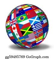 Multi-Ethnic-Group - World Flags Sphere