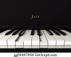 Music-Notes-On-Piano-Keyboard - Jazz Piano.