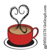 Coffee-With-Creamer - Coffee Cup Heart