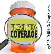 Prescription-Drugs - Prescription Coverage Magnifying Glass Medicine Bottle