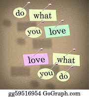 Tack - Do What You Love Words Saying - Fulfilling Career Enjoyment
