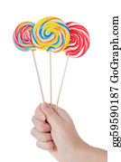 Lollipop - Colorful Lollipop Isolated On The White