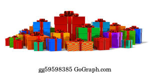 Congratulations - Heap Of Color Gift Boxes