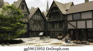 Church-Building - Medieval Or Fantasy Town Centre Mar