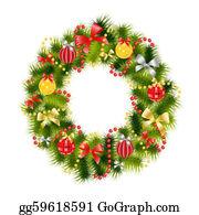 Christmas-Family - Realistic Christmas Wreath