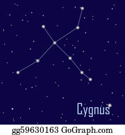 "Solar-System - The Constellation "" Cygnus"" Star In The Night Sky. Vector Illustration"