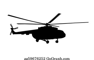 Helicopter - Helicopter Silhouette