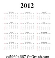 The-Twelve-Days-Of-Christmas - 2012 Clear Great Calendar