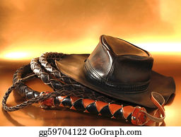 Whip - A Picture A Leather Hat And Whip