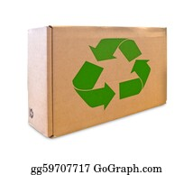 Recycle-Technology - Recycle Sign On Cardboard Box Isolated