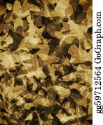 Rudeness - Camouflage Abstract Background.