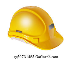 Labor-Union - Yellow Hard Hat Isolated On White