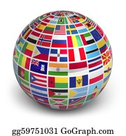 Globe-Flags - Globe With World Flags