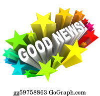 Announcement - Good News Announcement Message Words In Stars