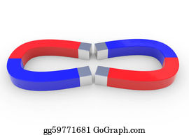 Gravity-Field - Two Horseshoe Two Color Magnets.