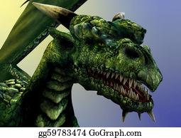 Horned-Lizard - Dragon Close-Up
