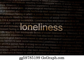 Emotions - Typed Text Loneliness On Paper