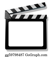 Movie-Production - Blank Film Slate Or Clapboard