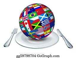 Globe-Flags - World Cuisine