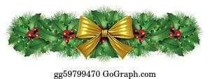 Christmas-Gold - Christmas Gold Bow Border Decoration