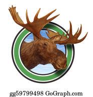 Antler - Moose Head Antlers Forest Icon Symbol