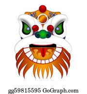 Beards - Chinese Lion Dance Head Illustration