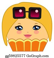 Wrap - Cute Cupcake Cartoon Couture Blonde