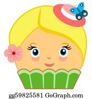 Wrap - Cute Cupcake Cartoon Couture Green