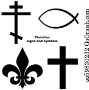 Ichthus - Set Of Christian Signs
