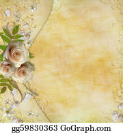 Golden-Love-Hearts - Greeting Golden Card With Beautiful  Roses, Paper Hearts, Ribbon, Leaves