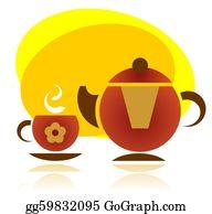 Tea-Pot - Tea Cup And Tea Pot