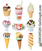 Coffee-With-Creamer - Set Of Ice Cream.