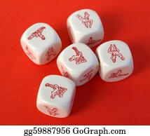 Erotic - Erotic Dices On Red Background