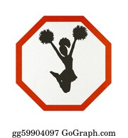 Cheerleader - Traffic Sign Recycled Paper