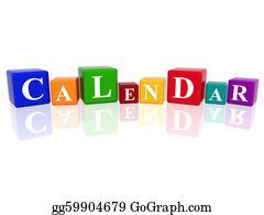 Weekday - Calendar In 3d Cubes