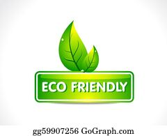 Eco-Friendly-Label - Abstract Eco Button With Leaf
