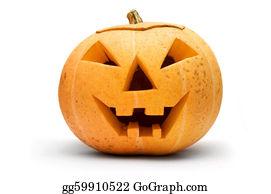 Scary-Pumpkin - Halloween Pumpkin Isolated