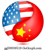 Globe-Flags - American And Chinese Flag