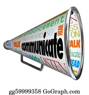 Public-Speaking - Communicate Bullhorn Megaphone Spread The Word