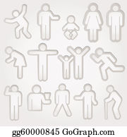 Babies-And-Toddlers-Silhouettes - Icon Sign Symbol Pictogram
