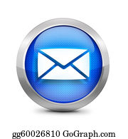 Forward - Blue Email Icon Sign
